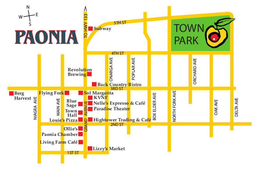 map of paonia